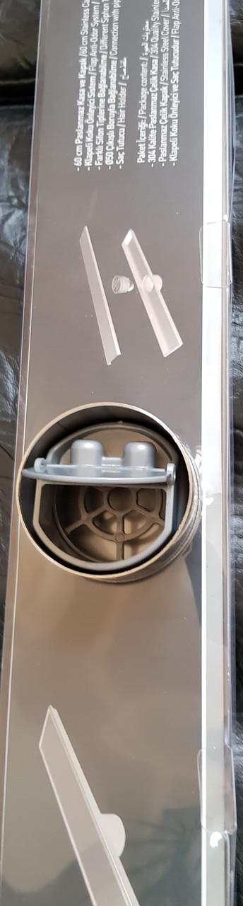 Трап сантехнический 60см нержавеющая сталь - фото 2