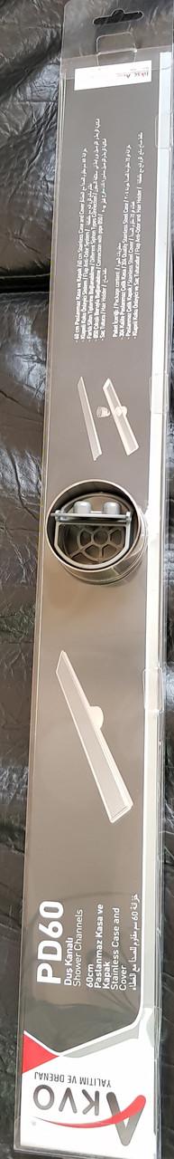 Трап сантехнический 60см нержавеющая сталь - фото 3