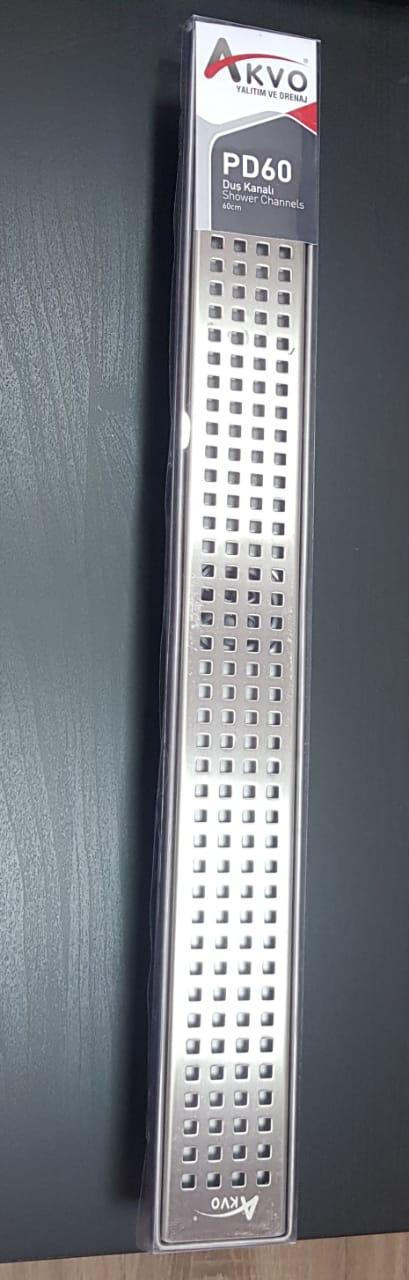 Трап сантехнический 60см нержавеющая сталь - фото 1
