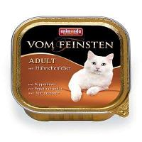 Консервы для взрослых кошек с куриной печенью, паштет Vom Feinsten - 100 гр