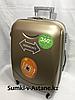 """Средний пластиковый дорожный чемодан на 4-х колесах""""Longstar"""". Высота 63 см, ширина 41 см, глубина 25 см."""