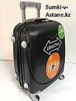 """Маленький пластиковый дорожный чемодан на 4-х колесах""""Longstar"""".Высота 53 см, ширина 33 см, глубина 22 см., фото 1"""