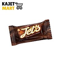 Конфета с корп. на карамельной основе глазированной Jet`s с печеньем