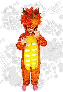 Кигуруми Дракон 3D оранжевый детский