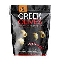 Gaea Greek Olives. Греческие зеленые оливки маринованные с перцем, 150 гр