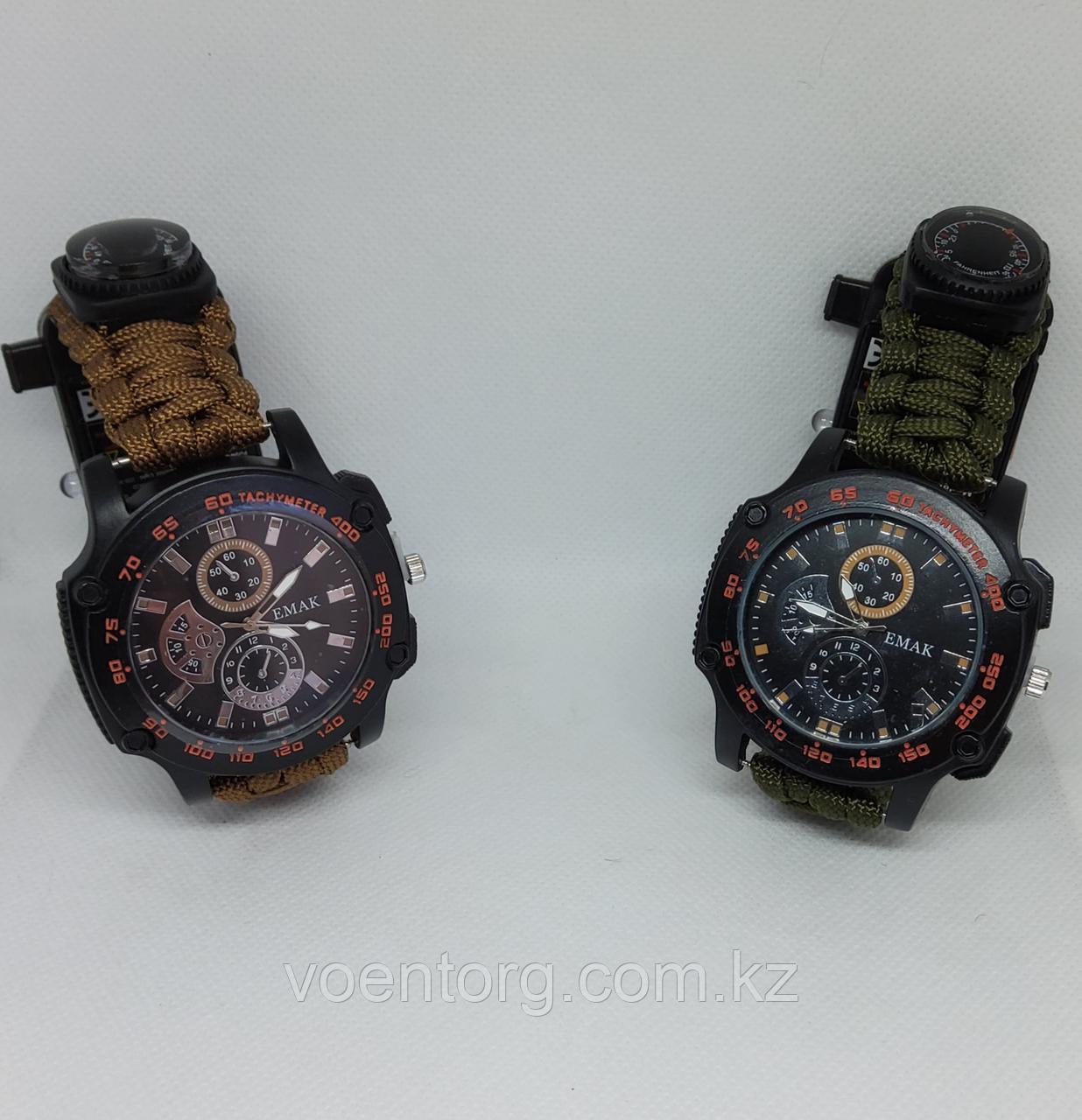 Тактические часы с паракордовым браслетом