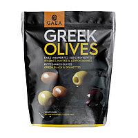Gaea Greek. Смешанные оливки с базиликом и лимоном, 150 гр