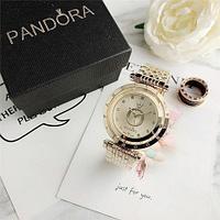 Подарочный комплект Pandora In The Moon 6861Z {часы + браслет + подвеска} (Золотой)