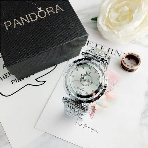 Подарочный комплект Pandora In The Moon 6861Z {часы + браслет + подвеска} (Серебряный) - фото 1