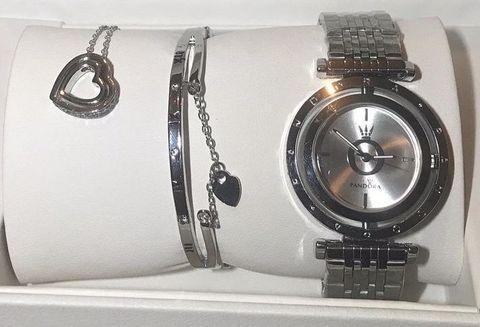 Подарочный комплект Pandora In The Moon 6861Z {часы + браслет + подвеска} (Серебряный) - фото 6