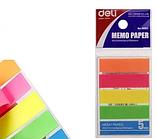 Закладки клейкие DELI 12 х 44 мм, пластиковые, 5 цв х 20  листов