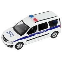 Машина металлическая 'Lada Largus Полиция' 124, открываются двери, багаж, капот, световые и звуковые эффекты