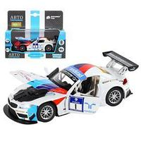 Машина металлическая BMW Z4 GT3 132, инерция, световые и звуковые, открываются двери, цвет белый