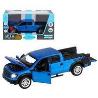 Машина металлическая Ford F-150 SVT Raptor 134, инерция, световые и звуковые эффекты, открываются двери,