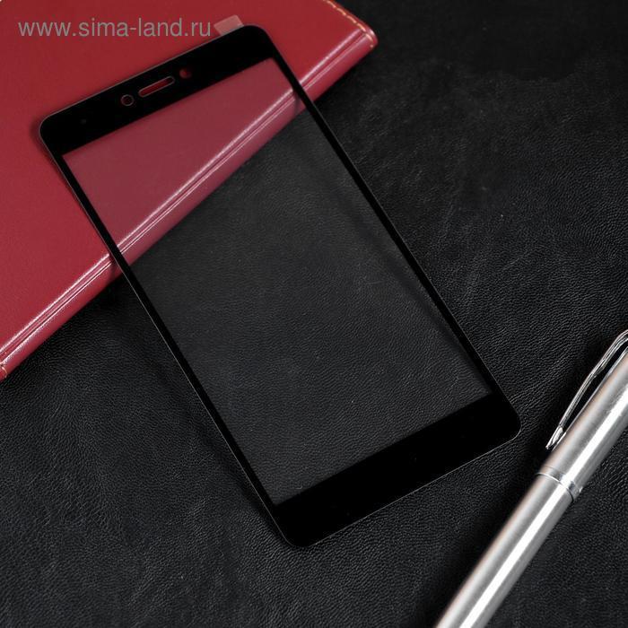 Защитное стекло Red Line для Xiaomi Redmi Note 4/Note 4X, Full Screen, полный клей, черное - фото 1