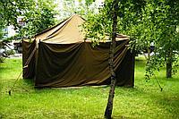 Палатка брезентовая на 8 человек+Пушка в подарок! +Доставка бесплатная!