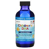 БАД Детская Omega-3 (ДГК ) со вкусом клубники для детей 1–6 лет, 530 мг (119 мл)