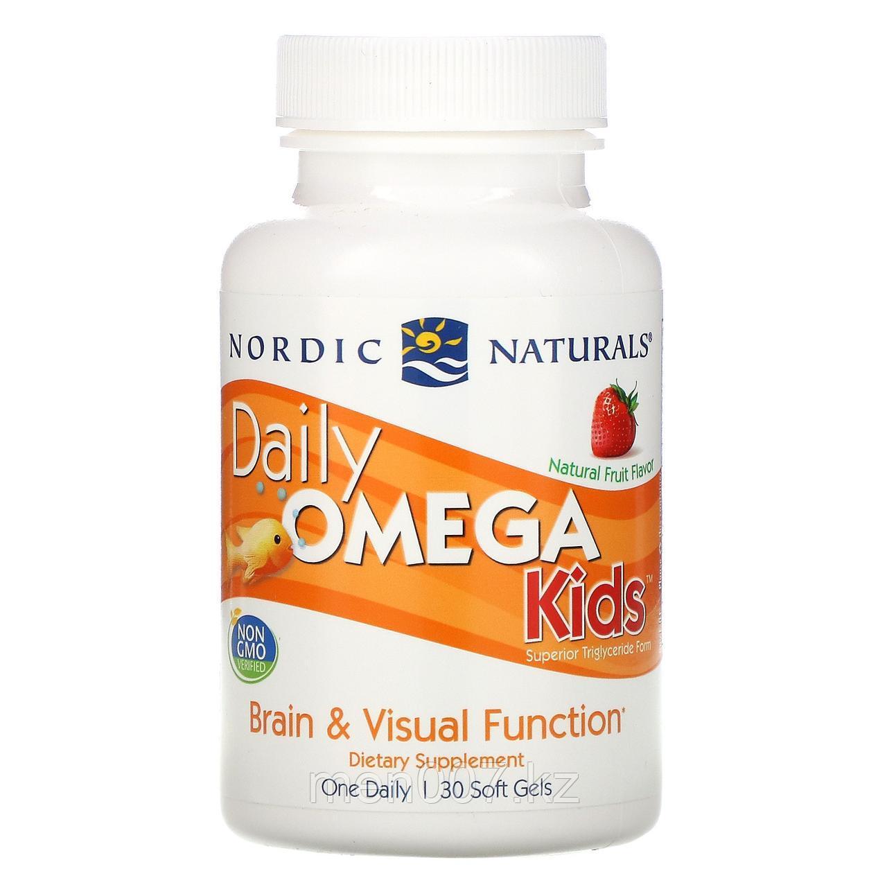 БАД Детская Omega-3 с фруктовым вкусом для детей от 3 лет, 500 мг (30 жевательных капсул)