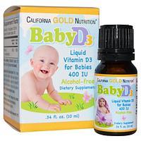 БАД Витамин D3 в каплях для детей, 400 МЕ (10 мл)