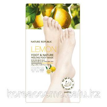 Пиллинговая маска для ног Nature Republic Nature Peeling Foot Mask Lemon