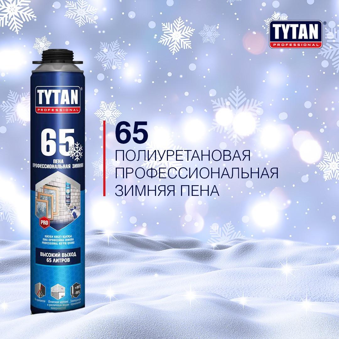 Пена монтажная TYTAN 65 проф зимняя, -20°С