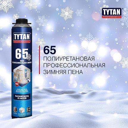 Пена монтажная TYTAN 65 проф зимняя, -20°С, фото 2