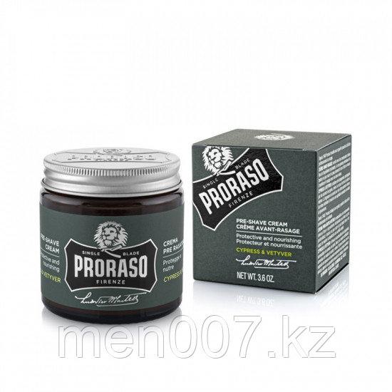 "PRORASO Crema Pre Shave Cypress & Vetyver (Крем до бритья прешейв ""Кипарис и Ветивер""), 100 мл"
