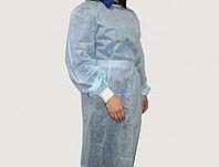 Халат одноразовый хирургический, спанбонд 35 гр, цвет голубой