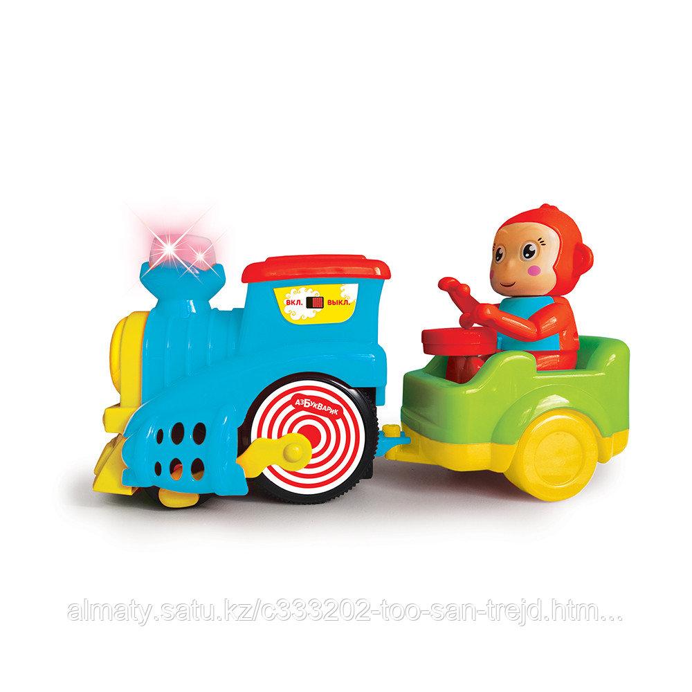 Весёлый паровозик c  обезьянкой  LITTLE TRAIN