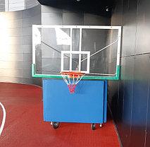 Стойка баскетбольная мобильная складная с механизмом, фото 2