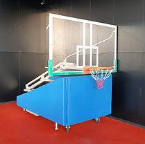Стойка баскетбольная мобильная складная с механизмом, фото 3