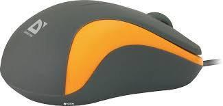 Мышь проводная Defender Accura MS-970 серый+оранжевый