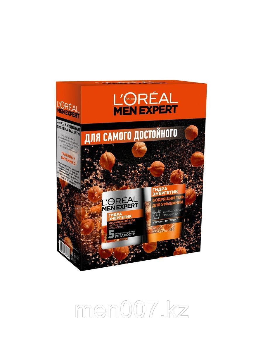 """L'Oreal Paris Подарочный набор Men Expert """"Гидра Энергетик: Крем для лица и  Гель для умывания """""""