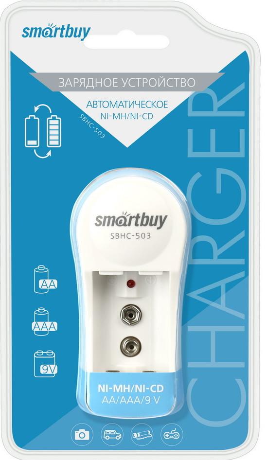 ЗУ для аккумуляторных батареек AA/AAA/9V Smartbuy SBHC-503/80-2 порта