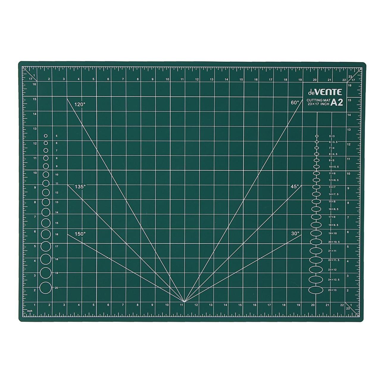 Коврик для резки (макетный) A2, непрорезаемый, 3 мм, двусторонний, 3-слойный, deVENTE
