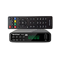 World Vision T624D2 - эфирный цифровой HD ресивер ТВ сигналов DVB-T/T2/C