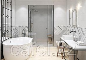 Кафель   Плитка для ванной 25х75 Hugge    Хюгге серый