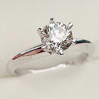 Золотое кольцо с бриллиантом 1.01Сt VS2/M EX-Cut, фото 1