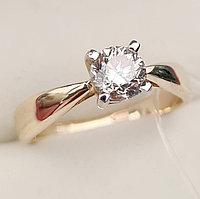 Золотое кольцо с бриллиантом 0,68Сt VS2/L Ex-Cut, фото 1