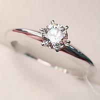 Золотое кольцо с бриллиантом 0,50Сt VVS2/K EX-Cut, фото 1