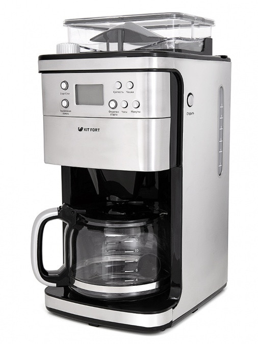 Кофемашина Kitfort KT-705 серебро