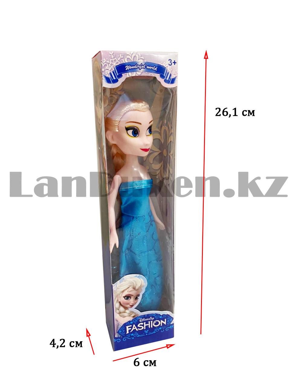 Кукла игрушечная детская Эльза Холодное сердце (Frozen) 23 см - фото 2