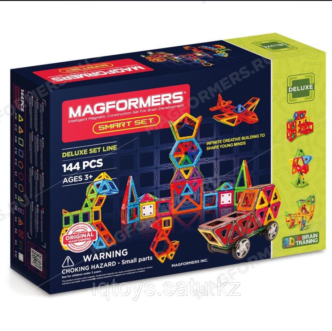 Магнитный конструктор Magformers Smart Set (144 деталей, DELUXE SET LINE - фото 1