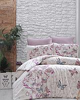 Комплект постельного белья First choice Kelebek Pudra