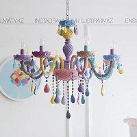 Люстра подвесная в виде подсвечника разноцветная, фото 1