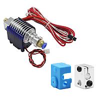 Экструдер E3DV6 24 В (1.75/0.4 мм) горло с PTFE трубкой для 3D принтера в сборе
