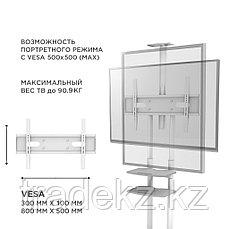 """Стойка мобильная для телевизора, панелей 55"""" - 86"""", ONKRON TS1881, белый, фото 3"""