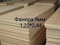 Фанера Береза ФК сорт 4/4, размер 1,22*2,44, толщина 9 мм, фото 1