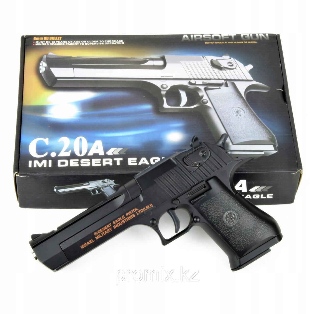 Игрушечный железный/металлический пистолет (Desert Eagle C.20a). Airsoft Gun C.20a