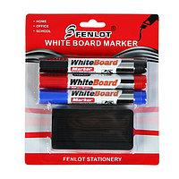 "Набор маркеров ""WhiteBoard"" 3+1"